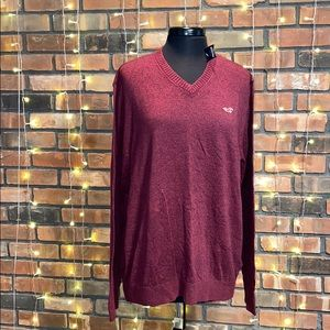 Hollister Red V Neck Sweater NWT Very Soft